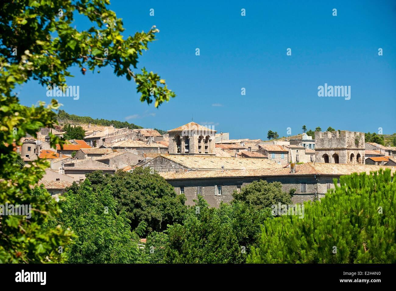 France Aude Caunes Minervois abbaye bénédictine fondée en 780 Photo Stock