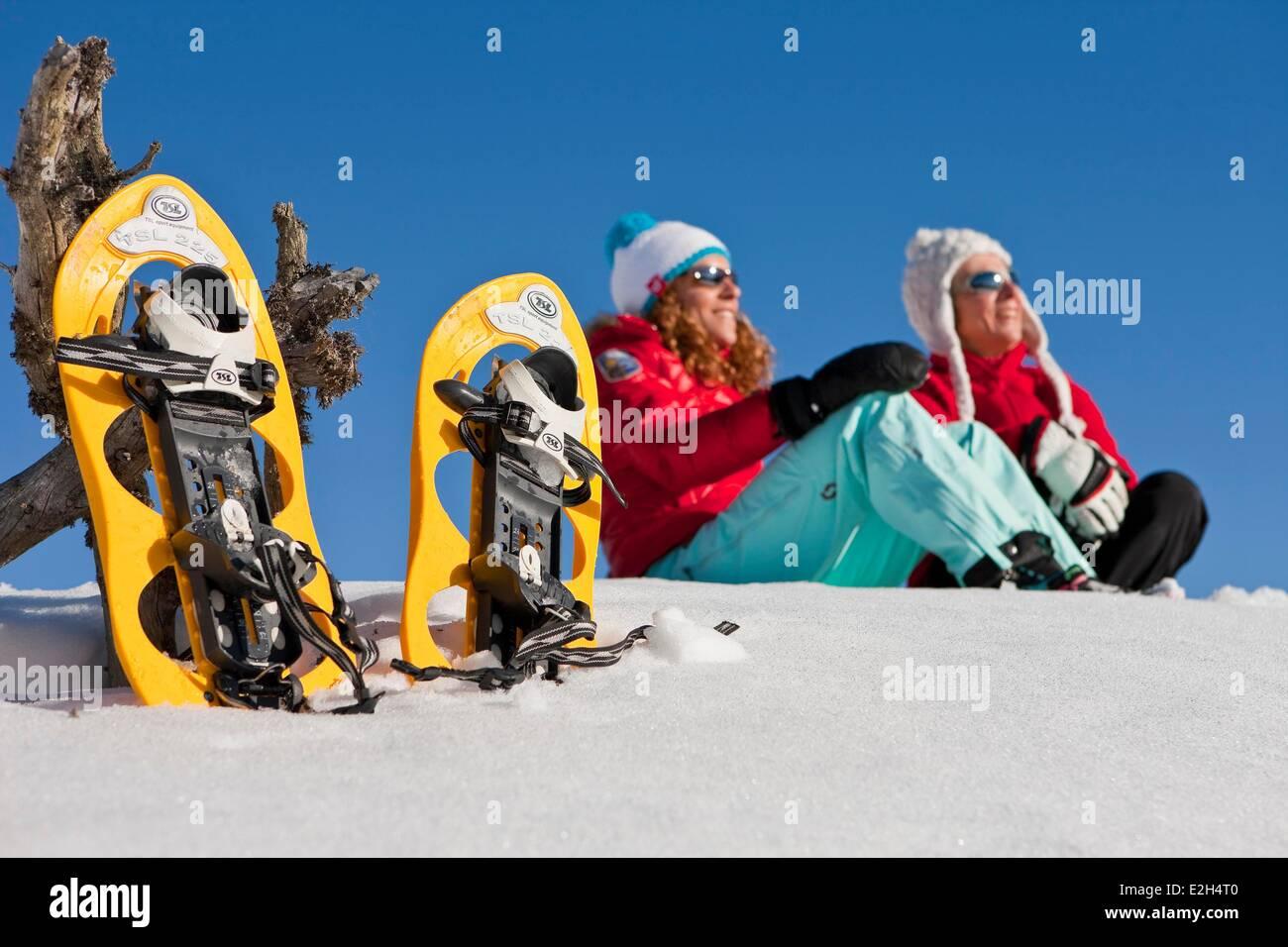 France Isère Chamrousse femmes sports d'hiver Photo Stock