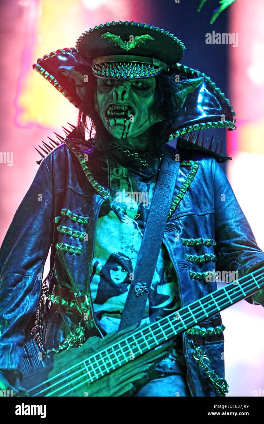 Rob Zombie effectue pendant le Festival Mayhem 2013 au Florida State Fairgrounds comprend: Piggy D. où: Tampa, FL, United States Quand: 01 août 2013 Banque D'Images