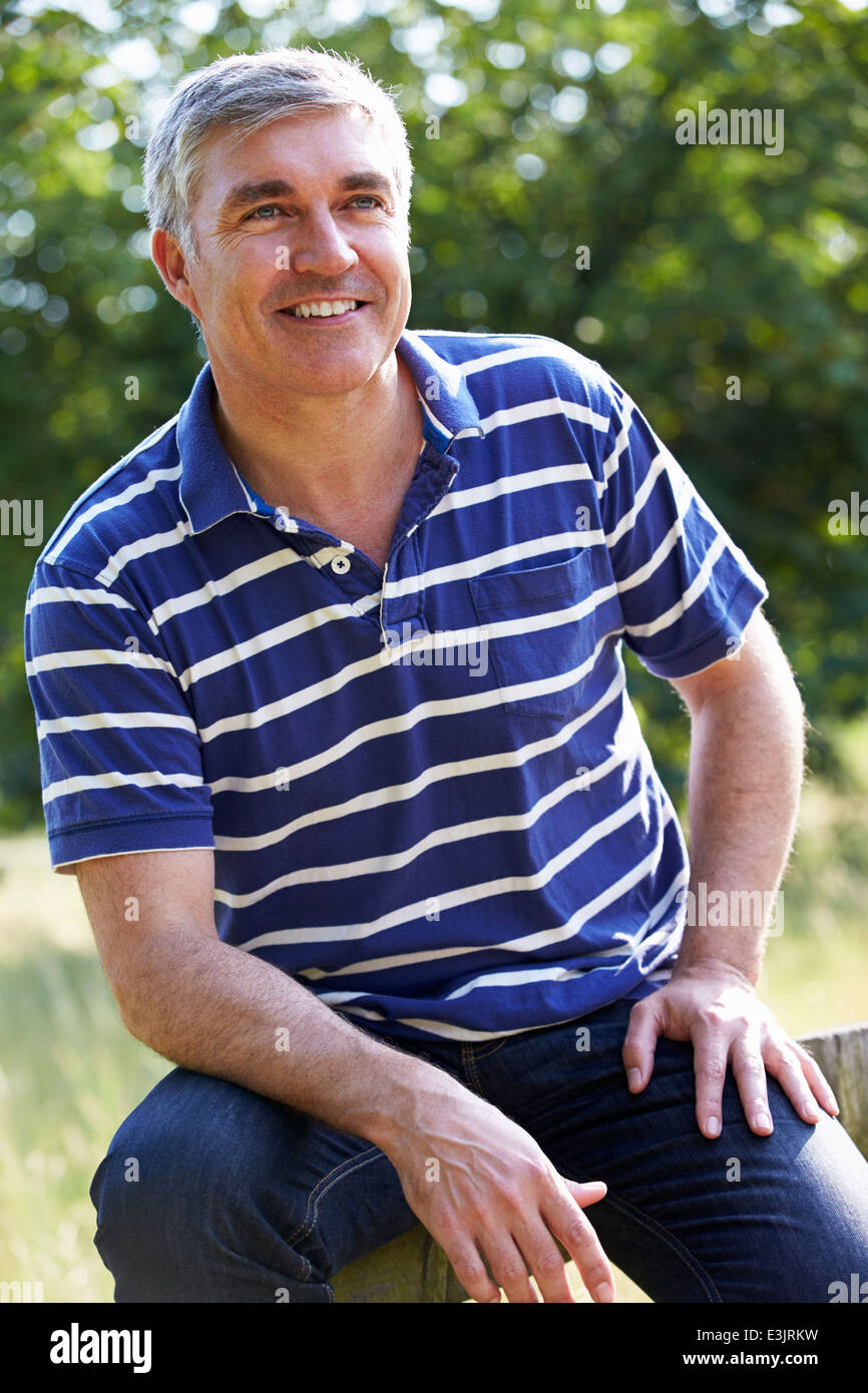 Outdoor Portrait Of Man Photo Stock