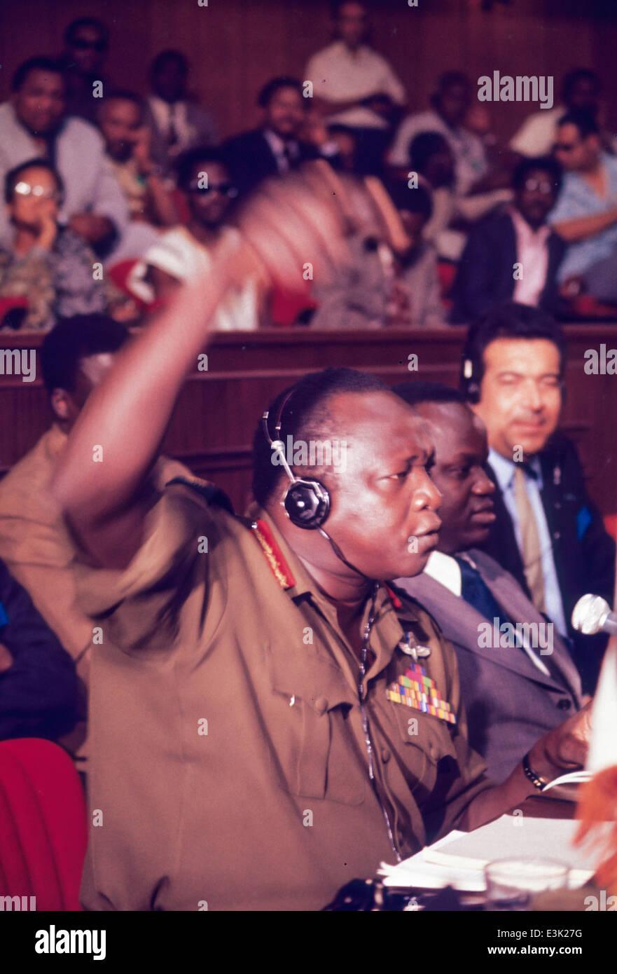 Idi Amin Dada,70's Photo Stock