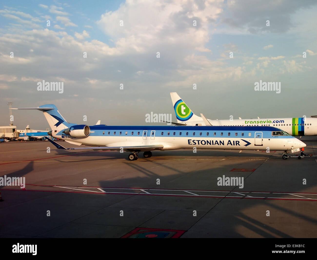 ES-ACD Estonian Air Canadair CL-600-2D24 de jets régionaux à Schiphol, pic3 Photo Stock