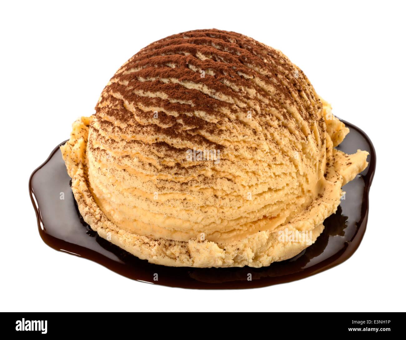 La crème glacée Tiramisu(+clipping path) Photo Stock
