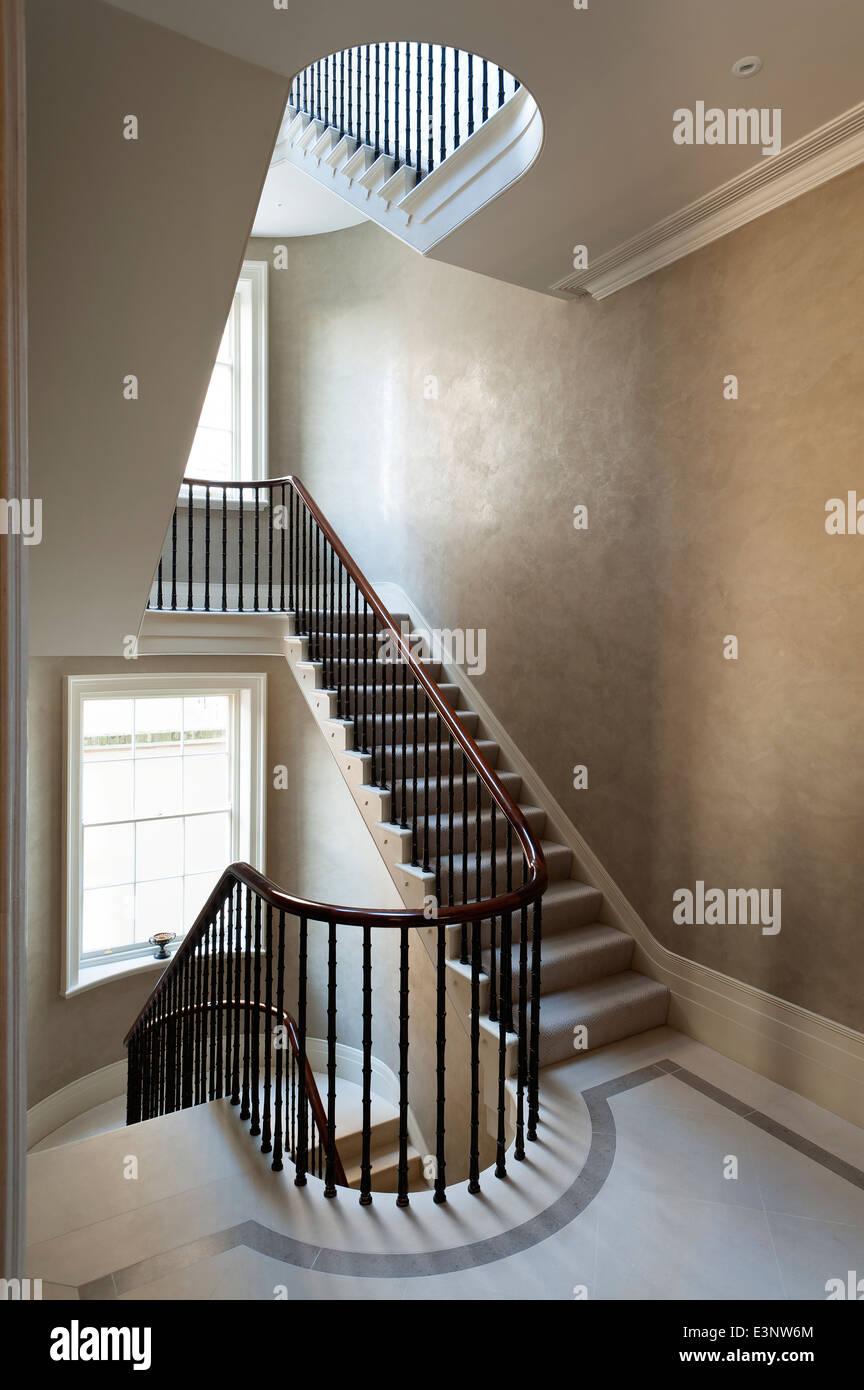 Un escalier eliptical Photo Stock
