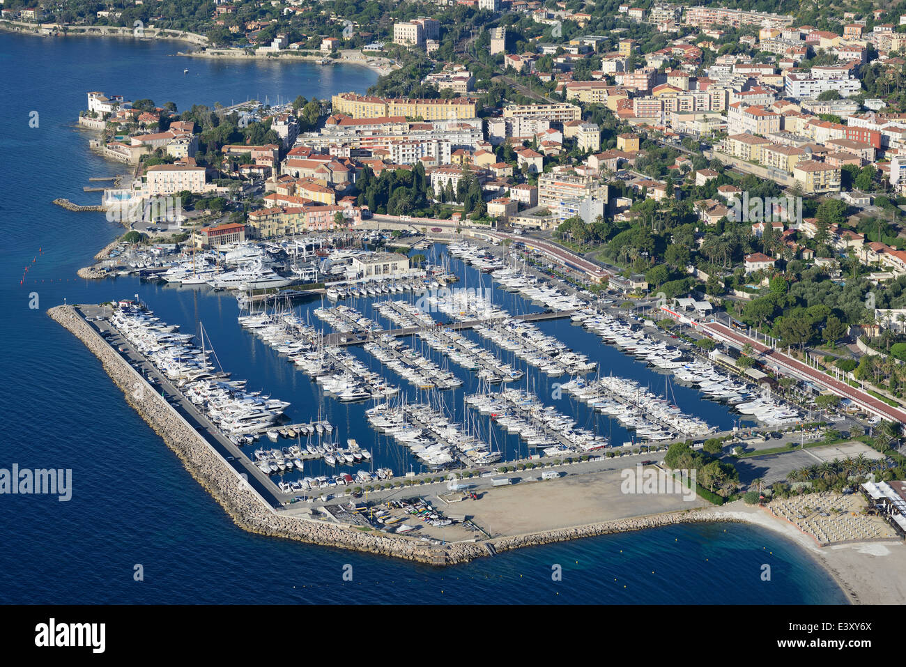 Port de plaisance de Beaulieu-SUR-MER. D'Azur, Alpes-Maritimes, France. Photo Stock