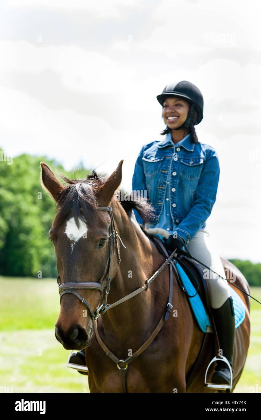 Horse Rider on horse Photo Stock