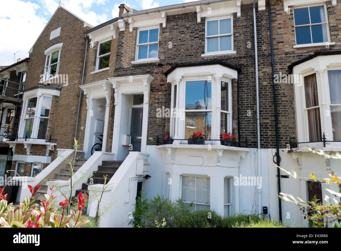Maison récemment rénovée dans Foskett Terrasse Shacklewell Lane Dalston Hackney East London E8 KATHY Photo Stock