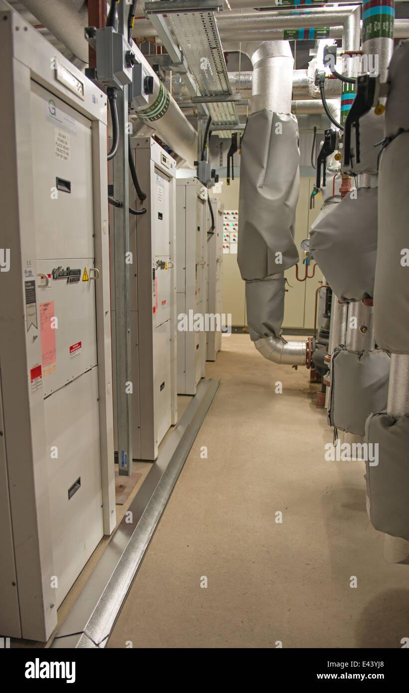 Pompes à chaleur géothermique dans les prix Photo Stock