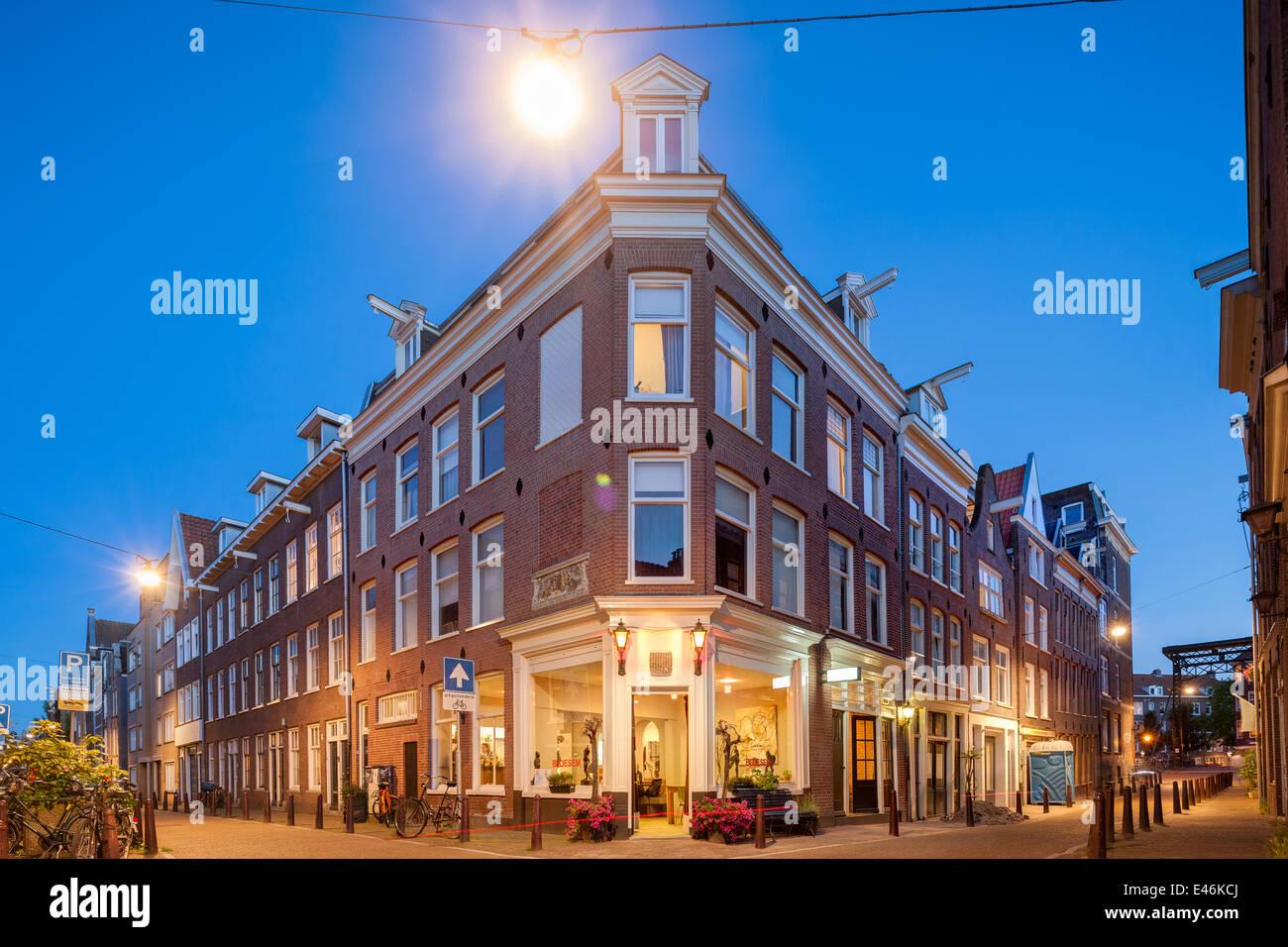 Bloesem Restaurant Amsterdam Jordaan. L'inspiration pour le personnage de Oranjee dans le défaut de notre Photo Stock