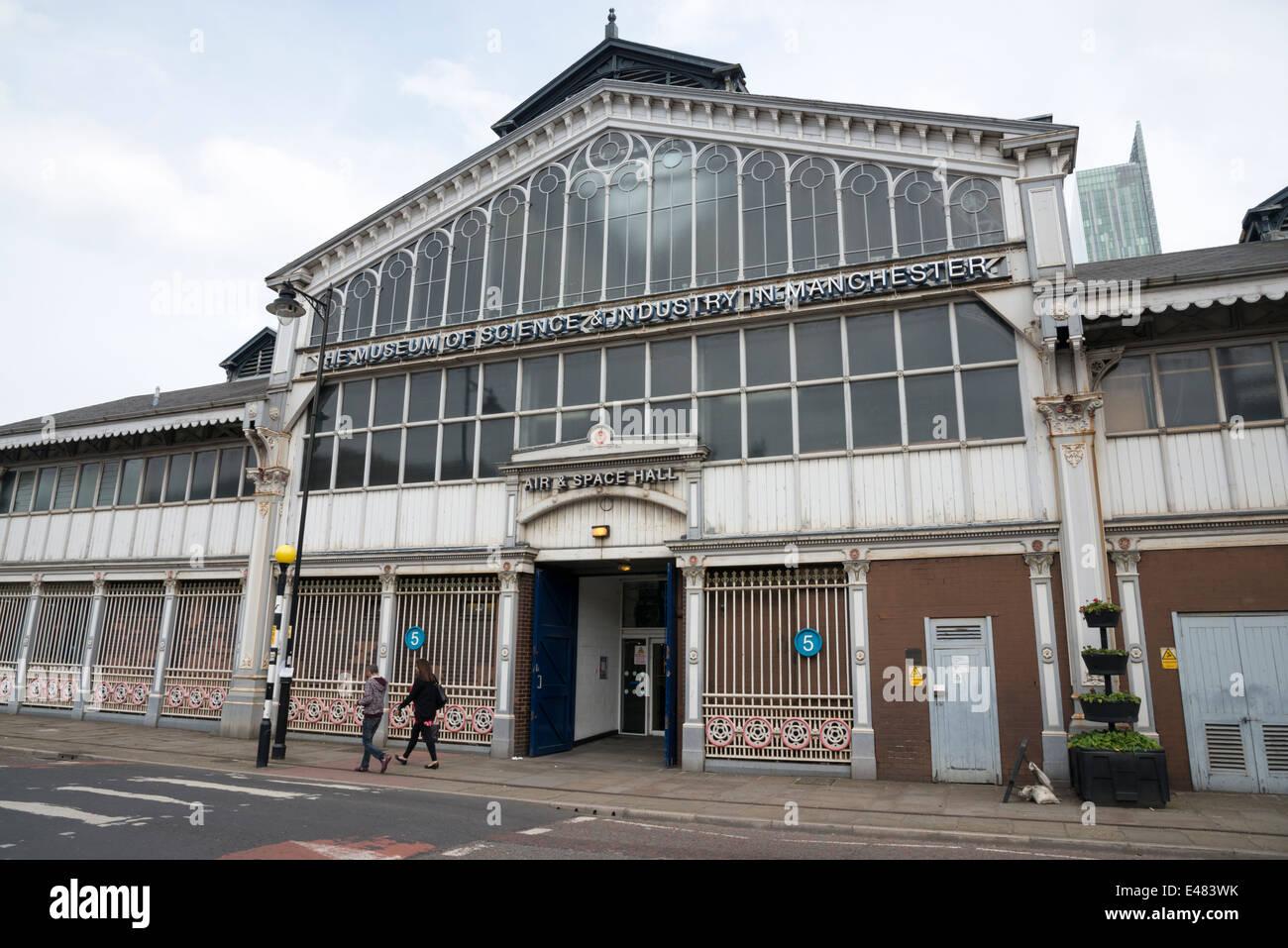 Le Musée des sciences et de l'industrie de Manchester UK. L'air et de l'espace Photo Stock