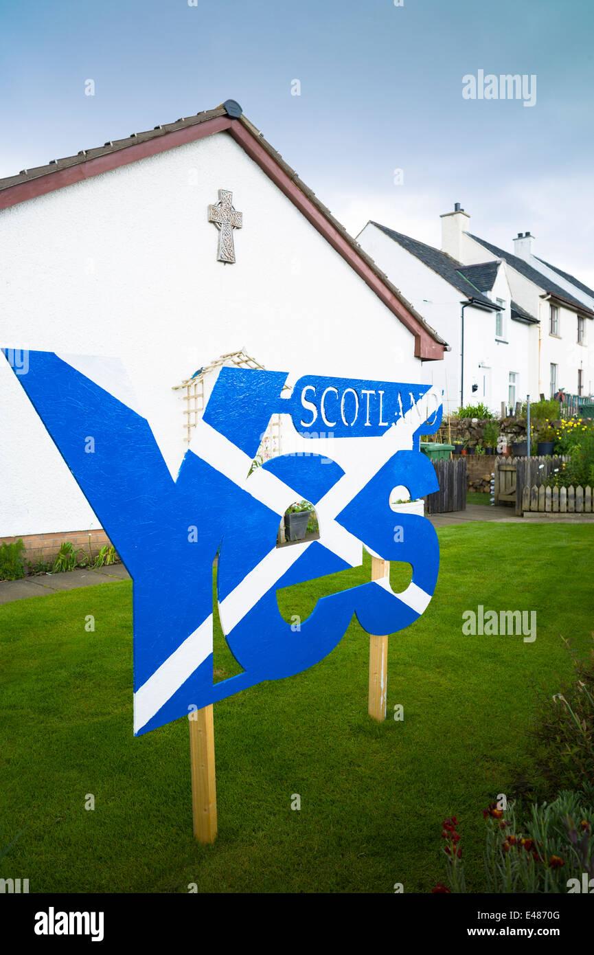 Sautoir drapeau national de St Andrew, l'indépendance écossaise débat référendaire Photo Stock