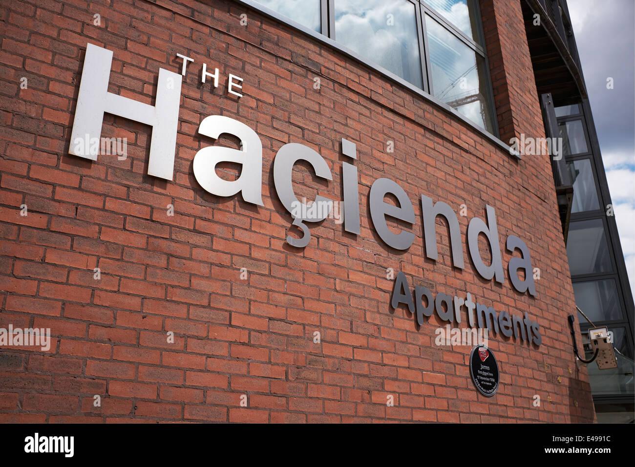 L'Hacienda Apartments building dans le centre ville de Manchester uk Photo Stock