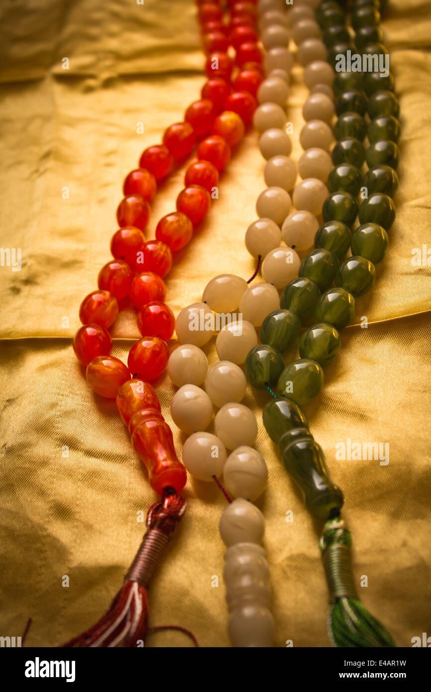 Des chapelets de couleur Photo Stock