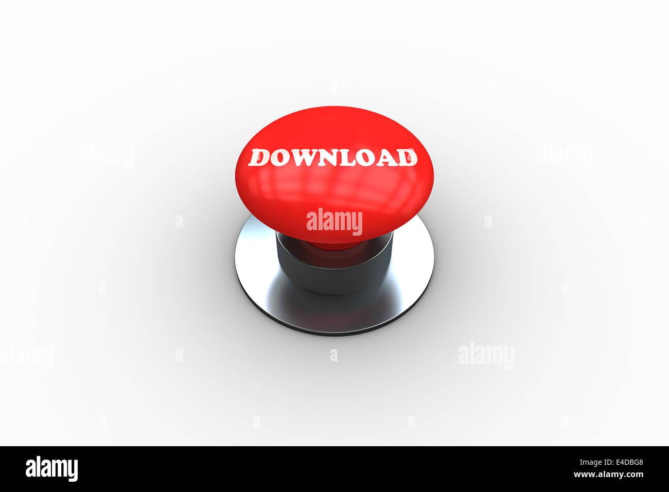 Télécharger généré numériquement sur bouton rouge Photo Stock