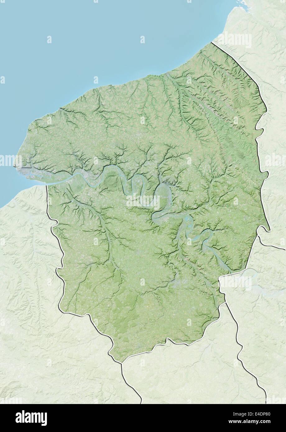 Carte relief haute normandie