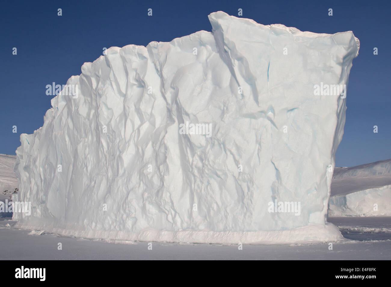 Les icebergs dans l'océan, près de l'îles de l'Antarctique Photo Stock