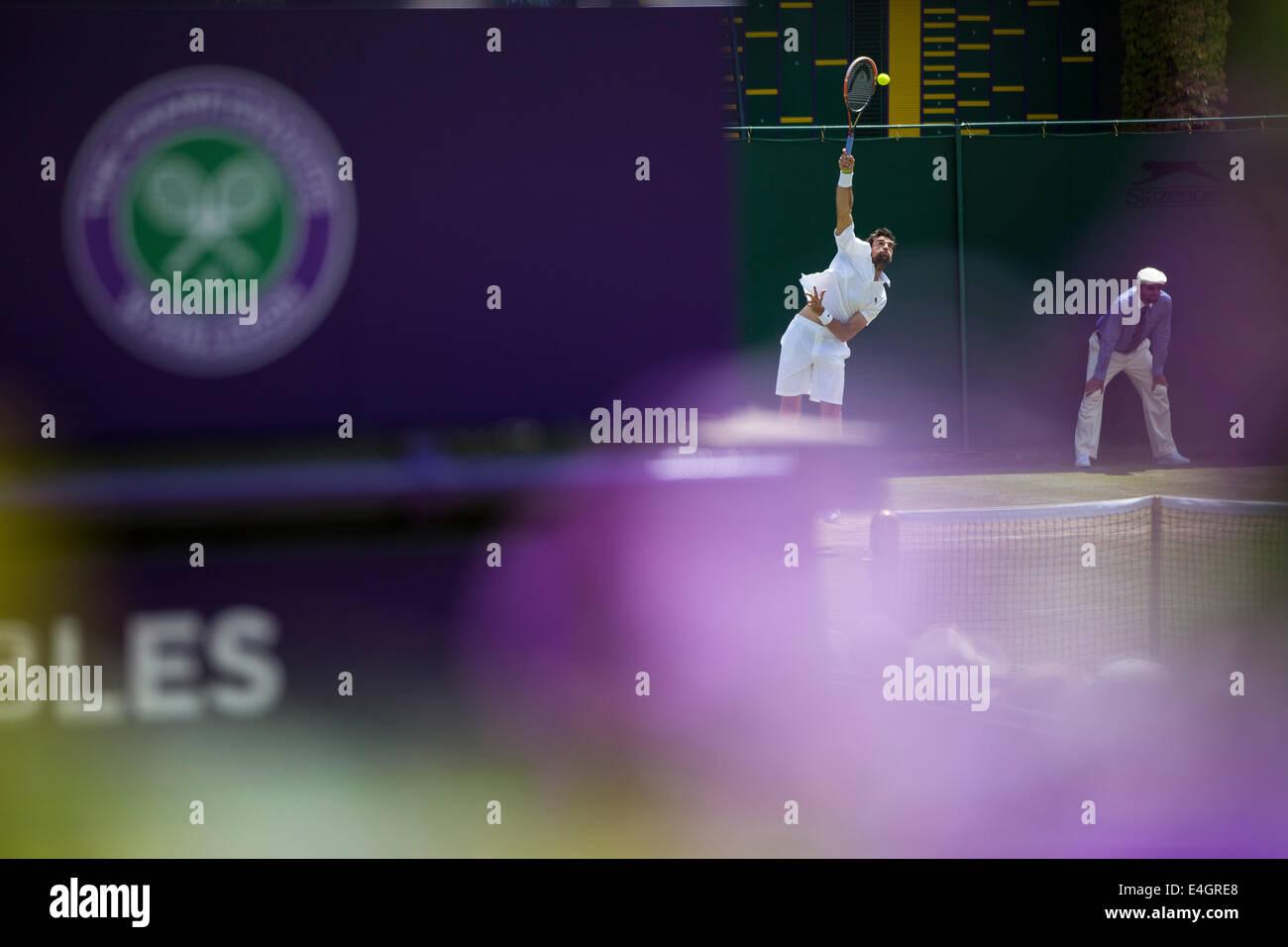 Les Championnats de tennis de Wimbledon Wimbledon 2014 Le All England Lawn Tennis Club Wimbledon & Crocquet Photo Stock
