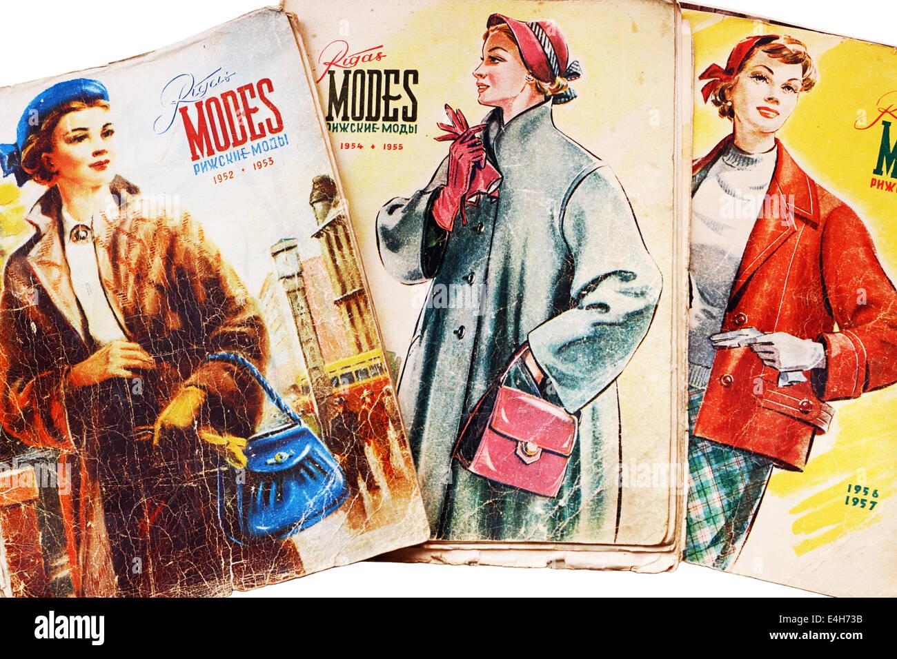 Magazine de mode letton Rigas' 'Modes pour les années 1952-1957 Photo Stock