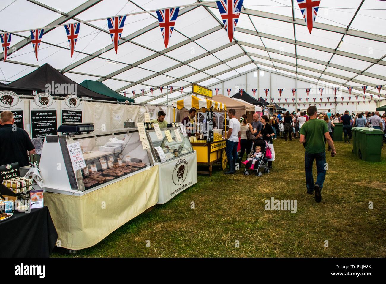 La nourriture tente au Kent County Show, 2014 Banque D'Images