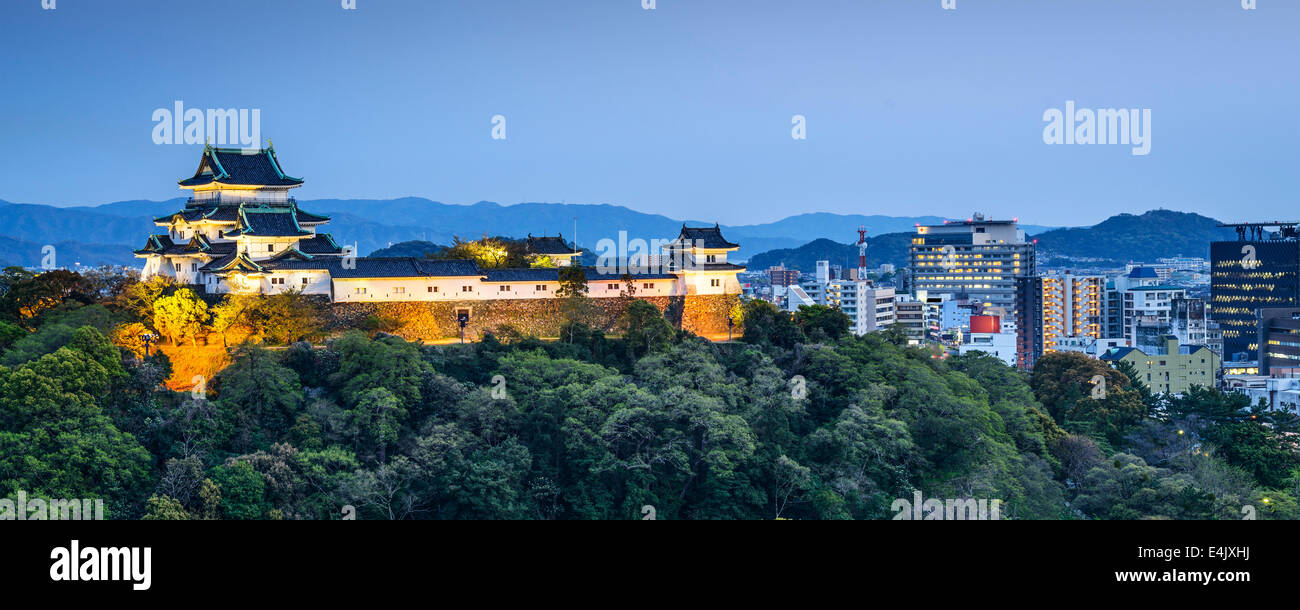 La ville de Wakayama, Japon. Photo Stock