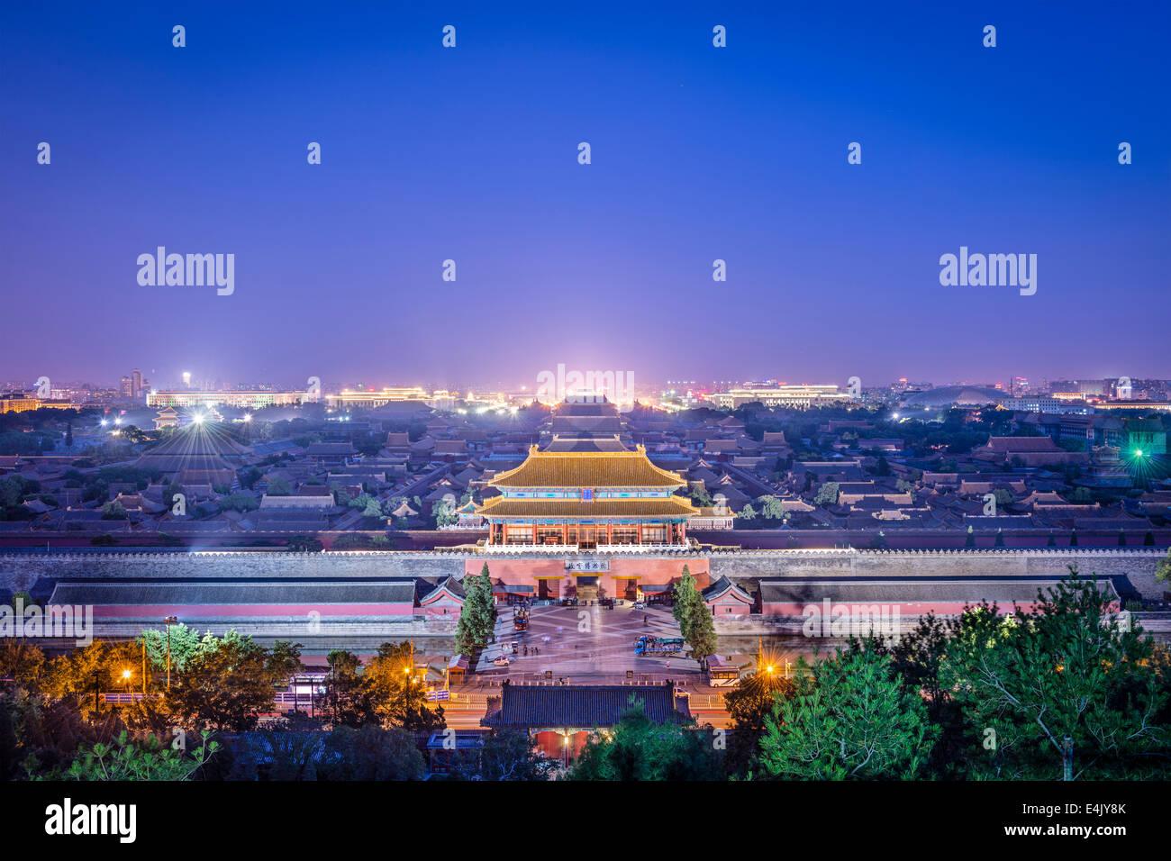 Beijing, Chine à la porte nord de la cité impériale. Photo Stock