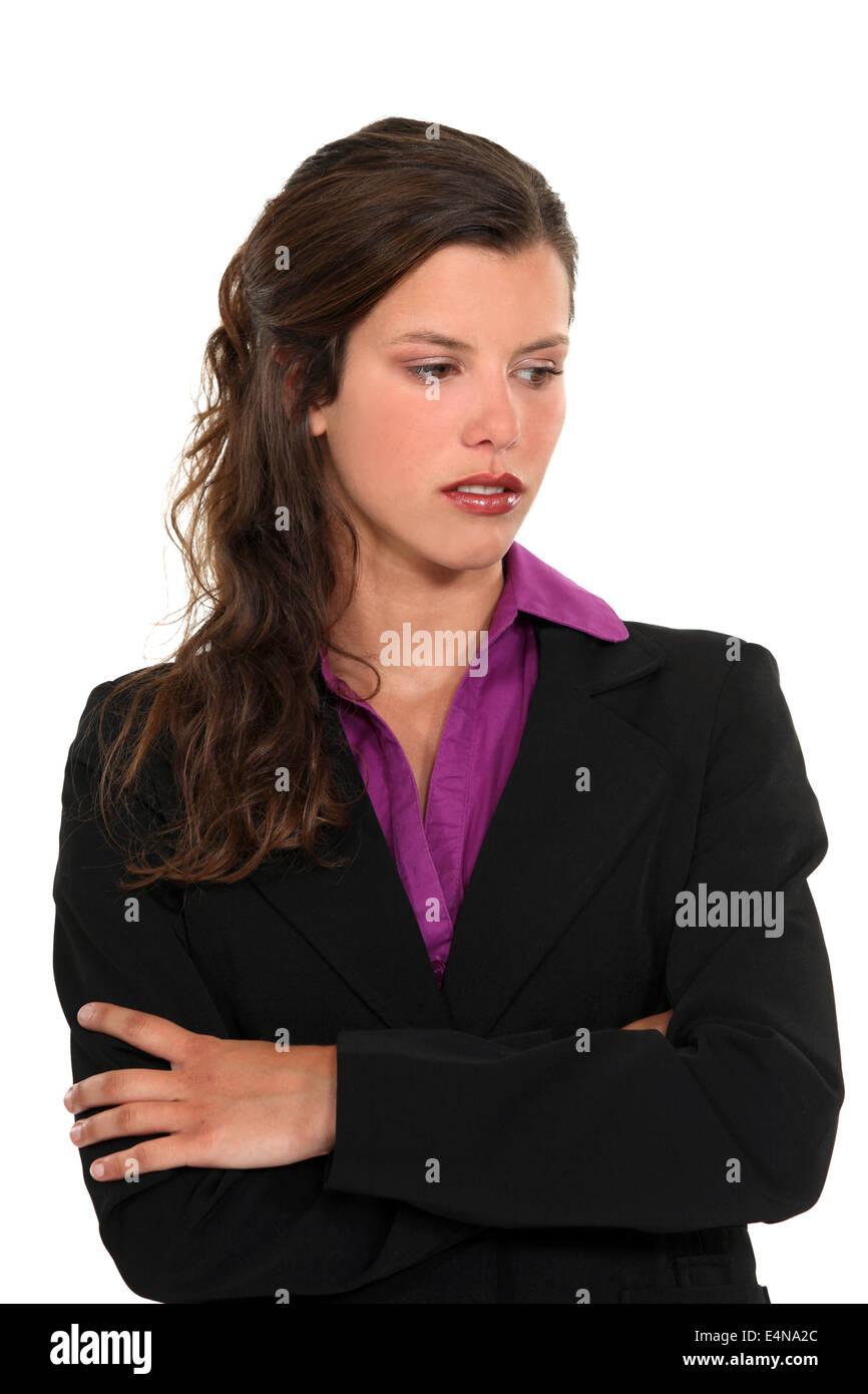 Downcast businesswoman Photo Stock