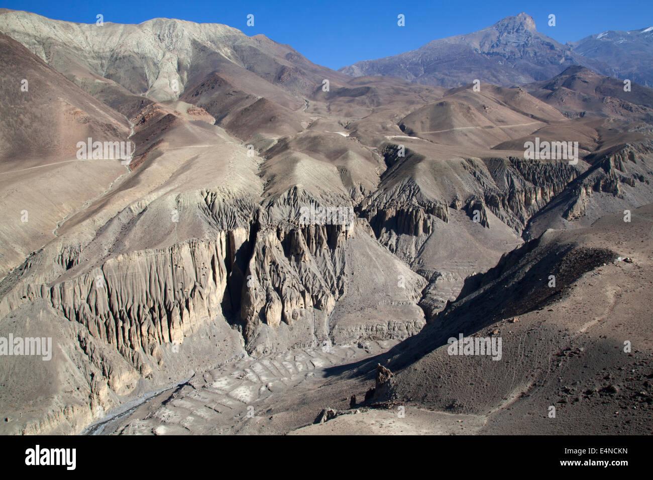 Kagbeni à Muktinath, Circuit de l'Annapurna Trek Himalaya, Népal, Photo Stock