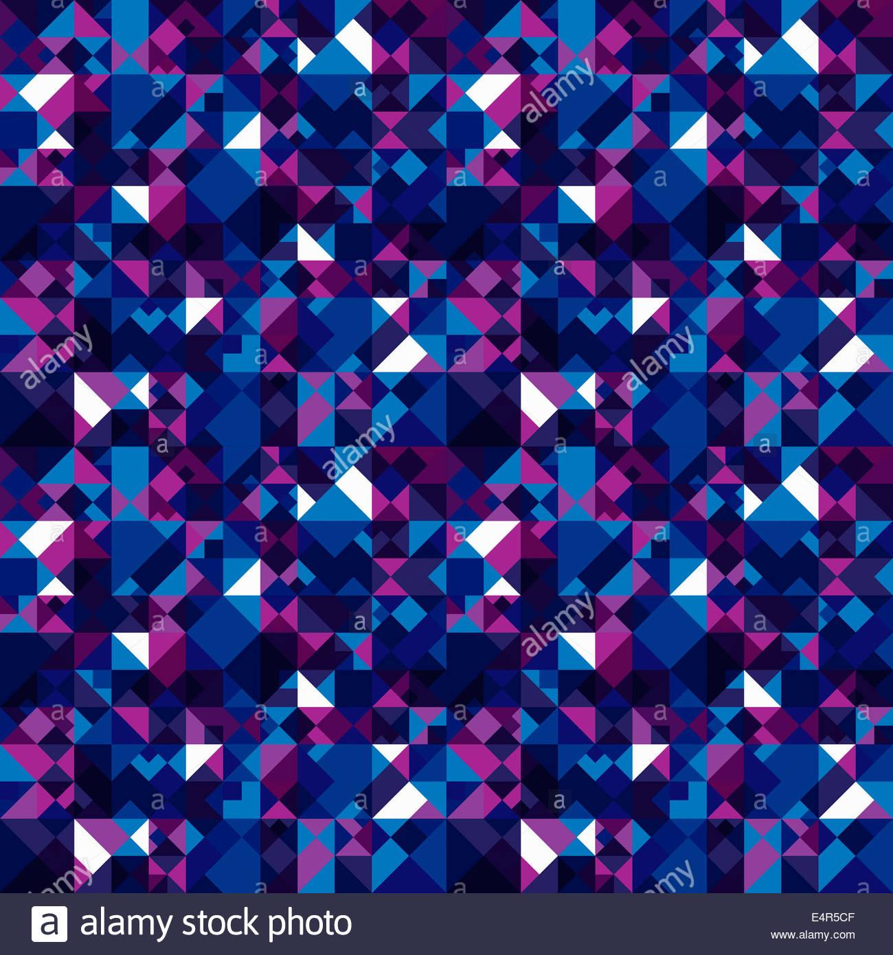 Résumé motif de fond en formes géométriques sombres Photo Stock