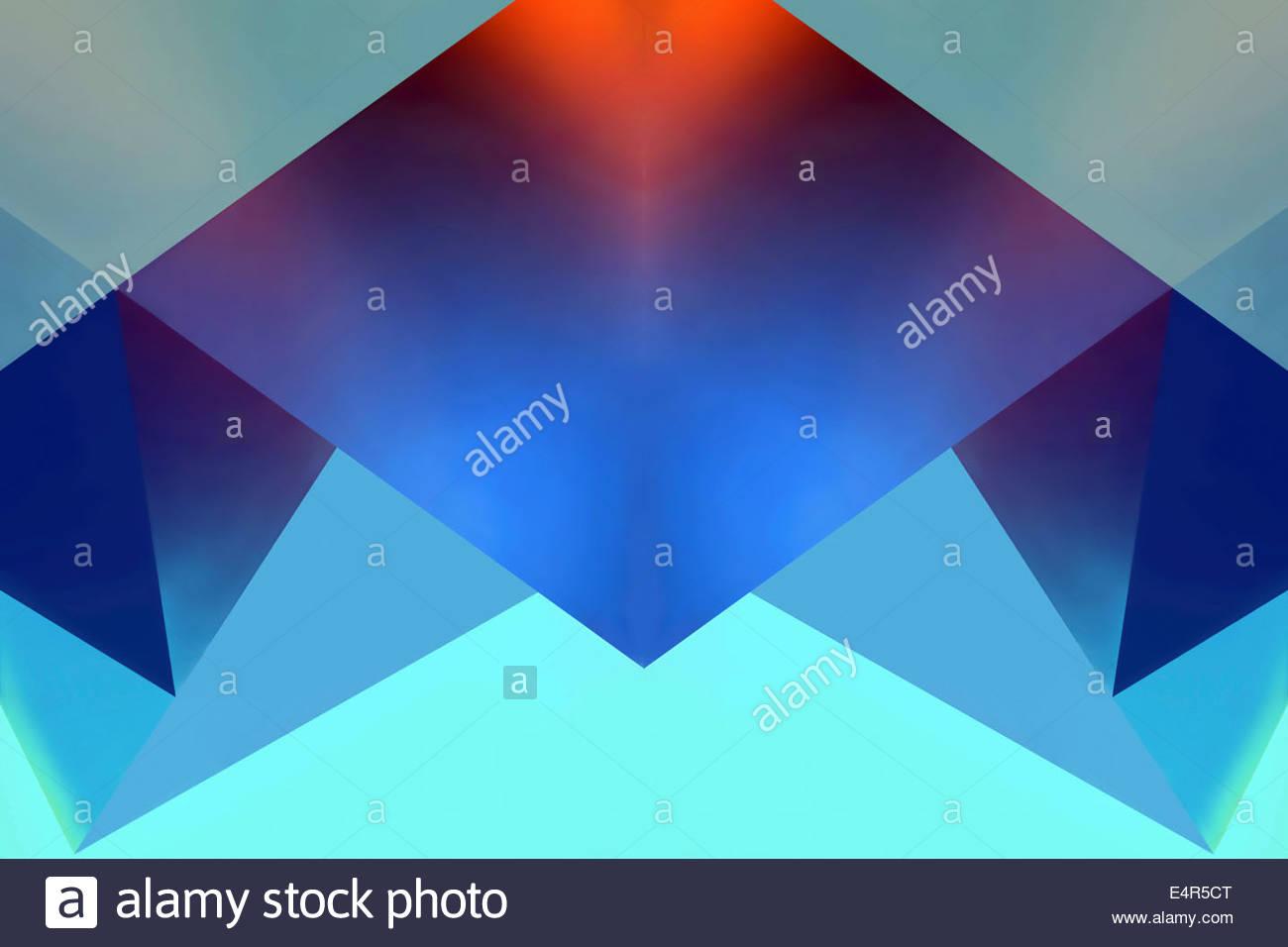 Motif de fond abstrait des formes géométriques symétriques Photo Stock