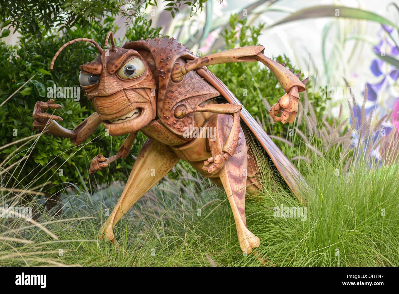 Hopper, Bug's Life, Disneyland, Anaheim, Californie Photo Stock