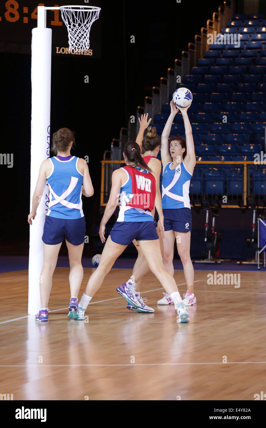 La formation de l'équipe de l'Écosse dans le Scottish Exhibition and Conference Centre (SECC) Photo Stock