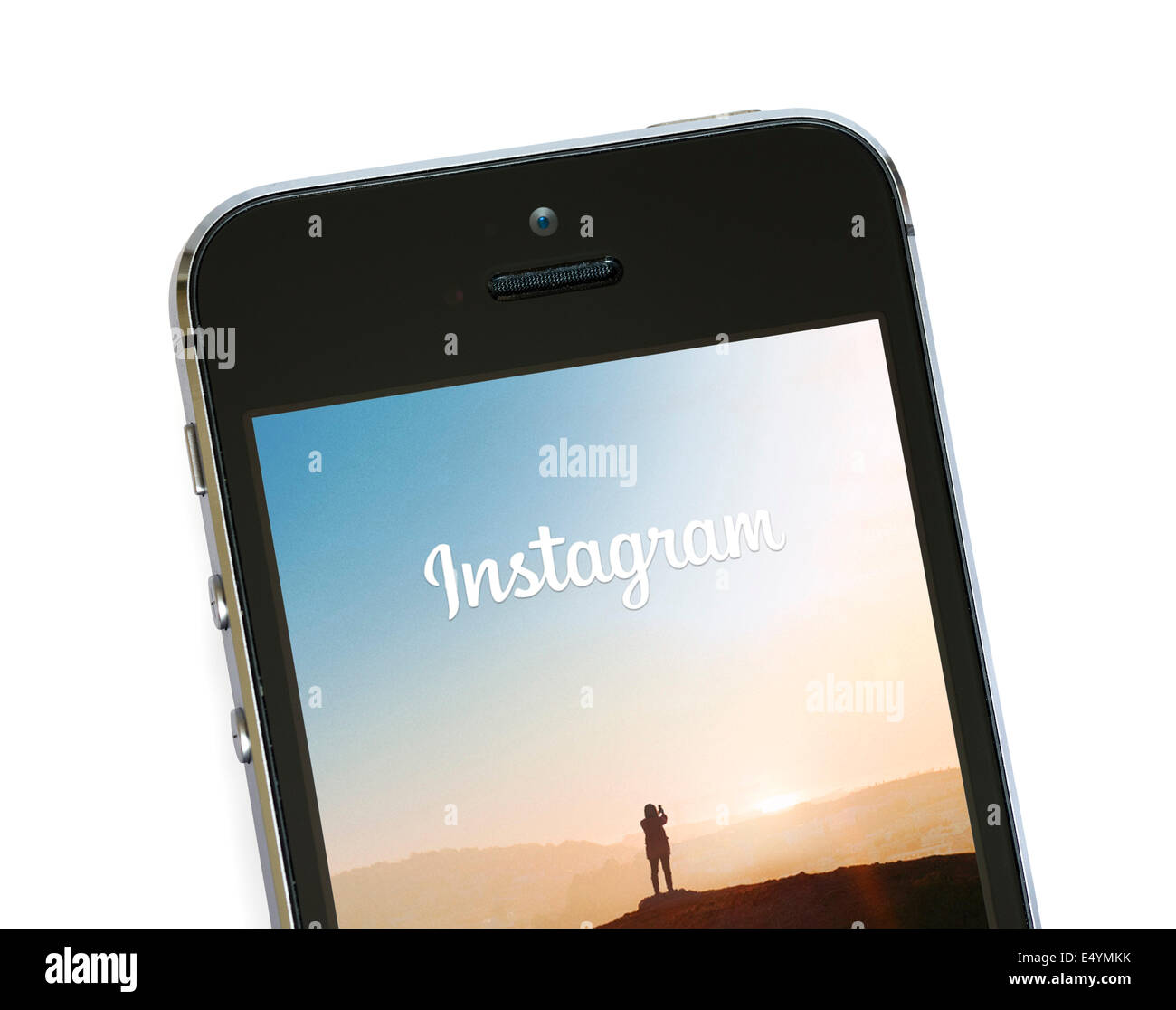 L'application Instagram sur un Apple iPhone 5S Photo Stock