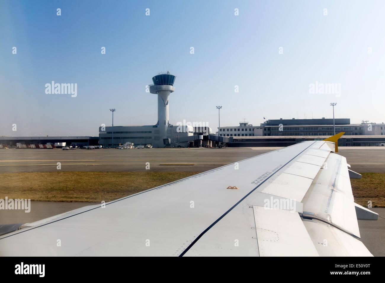 L'aéroport de Bordeaux Aquitaine France Photo Stock
