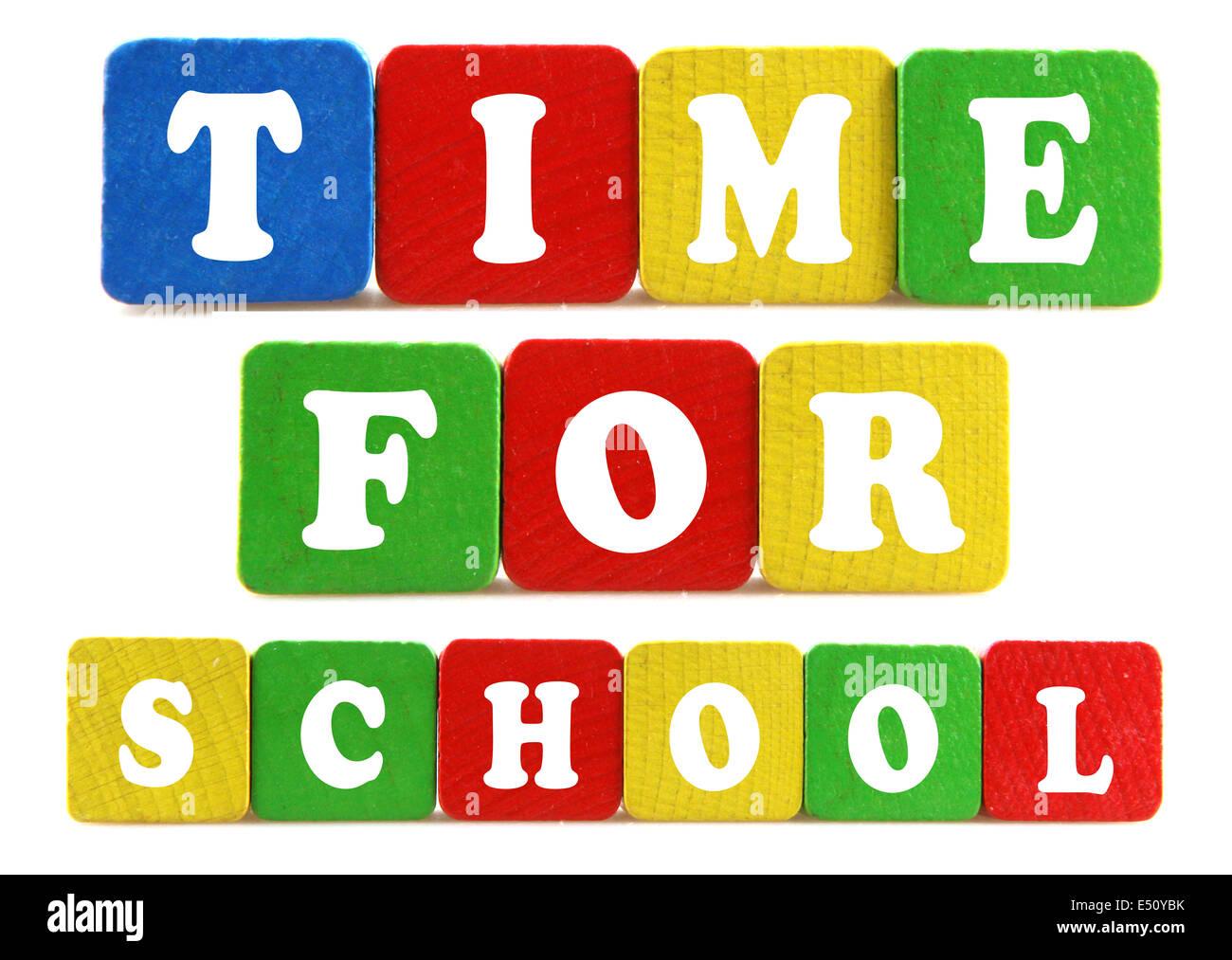 Concept de temps pour l'école Photo Stock
