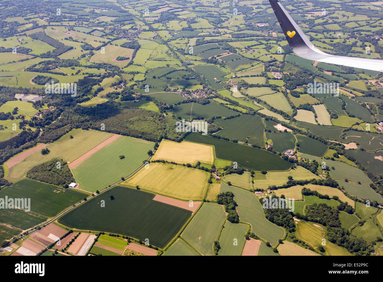vue sur la campagne anglaise partir d 39 un avion vol banque d 39 images photo stock 71976168 alamy. Black Bedroom Furniture Sets. Home Design Ideas