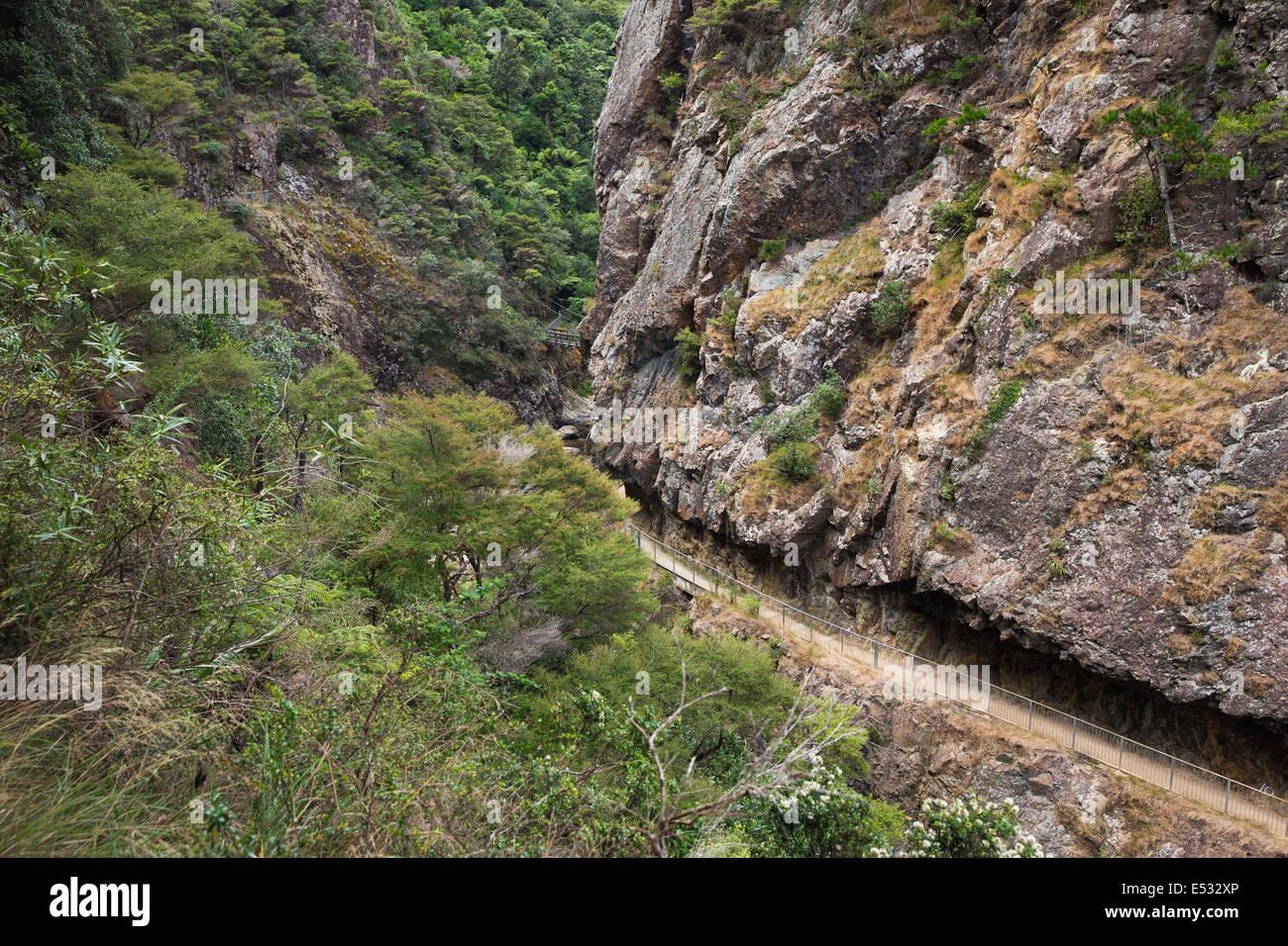 Passage étroit dans les gorges Photo Stock