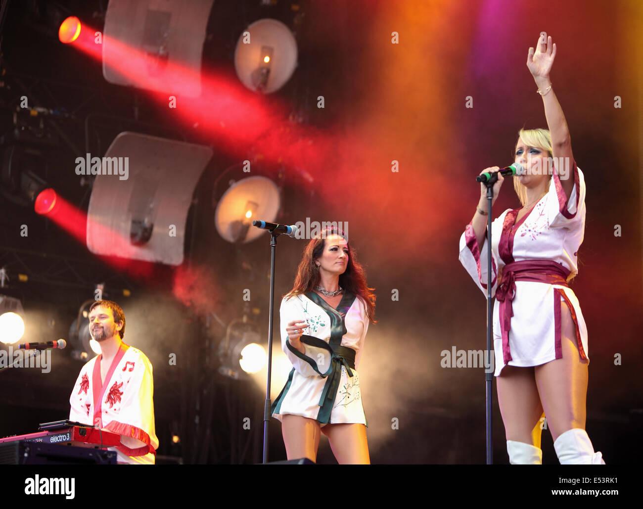 Perth, Ecosse, Royaume-Uni. 19 juillet, 2014. Encore une fois, jouer la Bjorn revenir en Ecosse,Festival,Perth Scone Photo Stock
