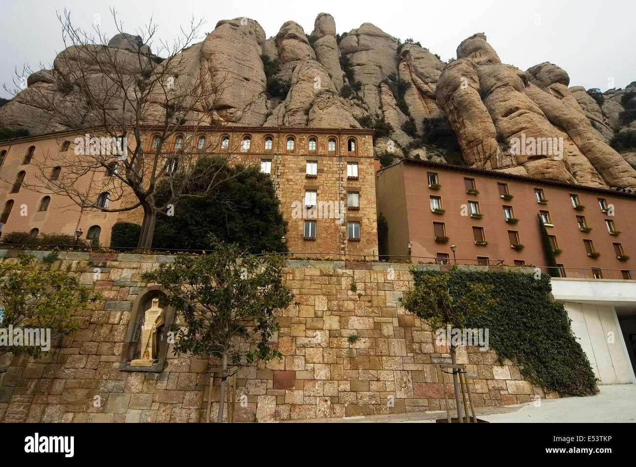 Montserrat , l'Espagne, le monastère bénédictin de Montserrat Photo Stock