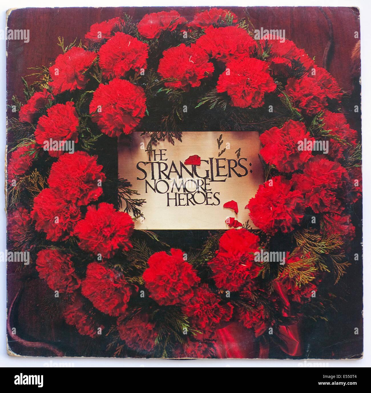 Les STRANGLERS - no more heroes, sorti en vinyle de l'album 1977 sur united records Photo Stock