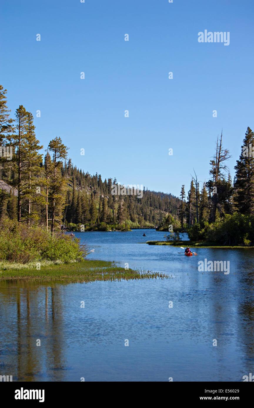 Mammoth Lakes, en Californie. USA Banque D'Images