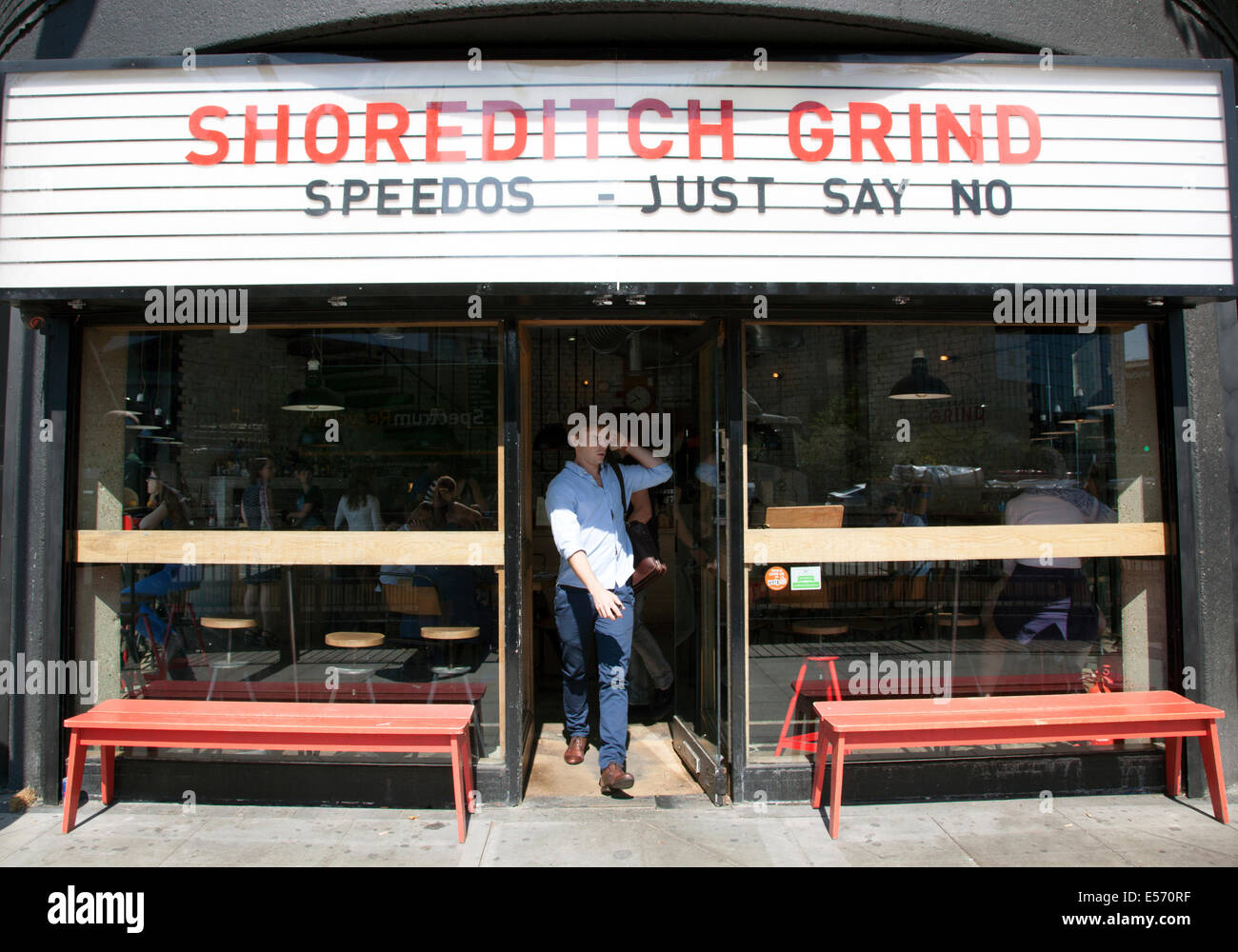 Shoreditch Grind coffee bar, Old Street, Londres Photo Stock