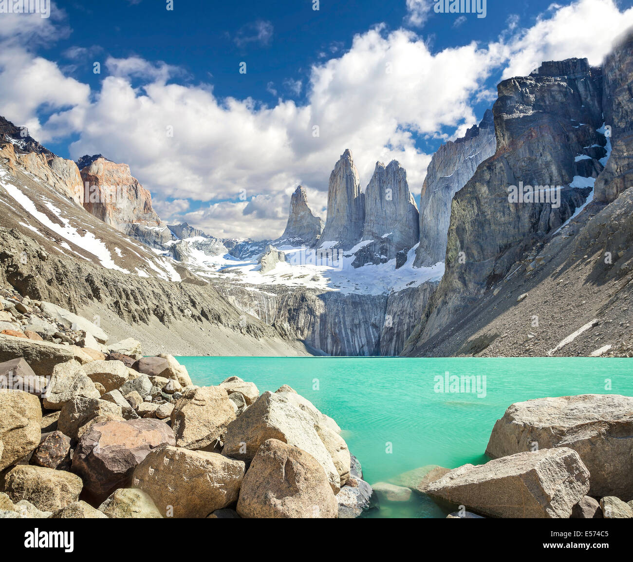 Les montagnes de Torres del Paine, Patagonie, Chili Photo Stock