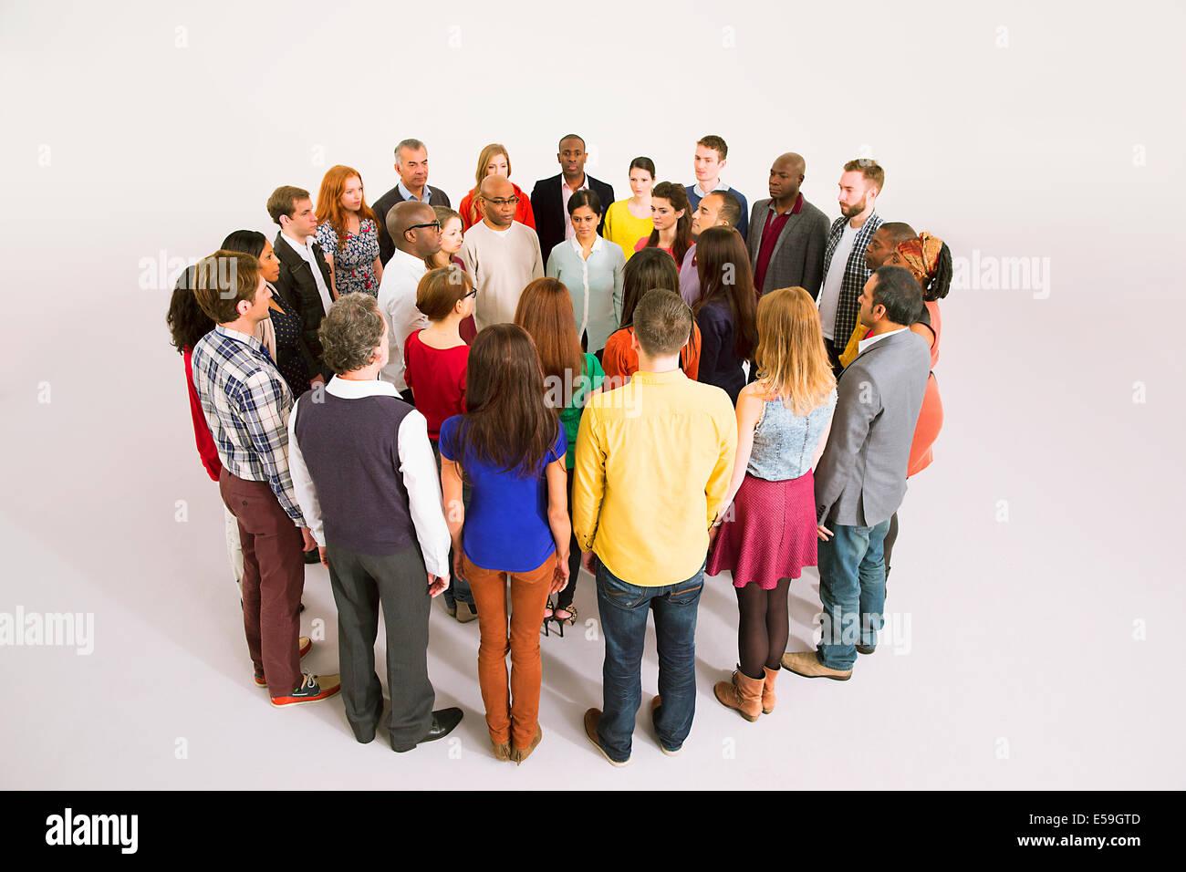 Les gens d'affaires de huddle Photo Stock