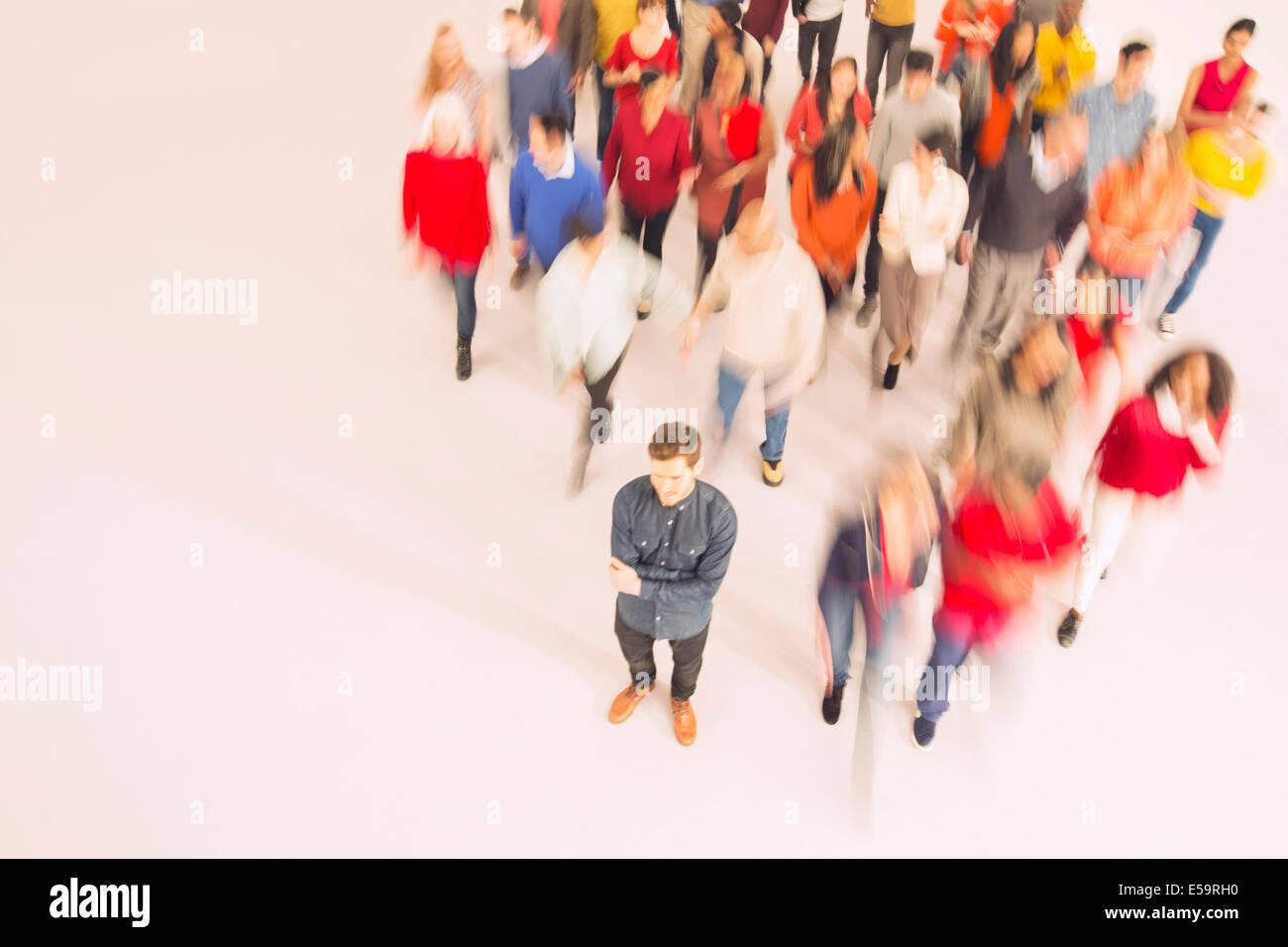 Portrait de la foule Photo Stock