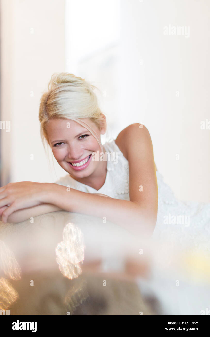 Femme souriante Photo Stock