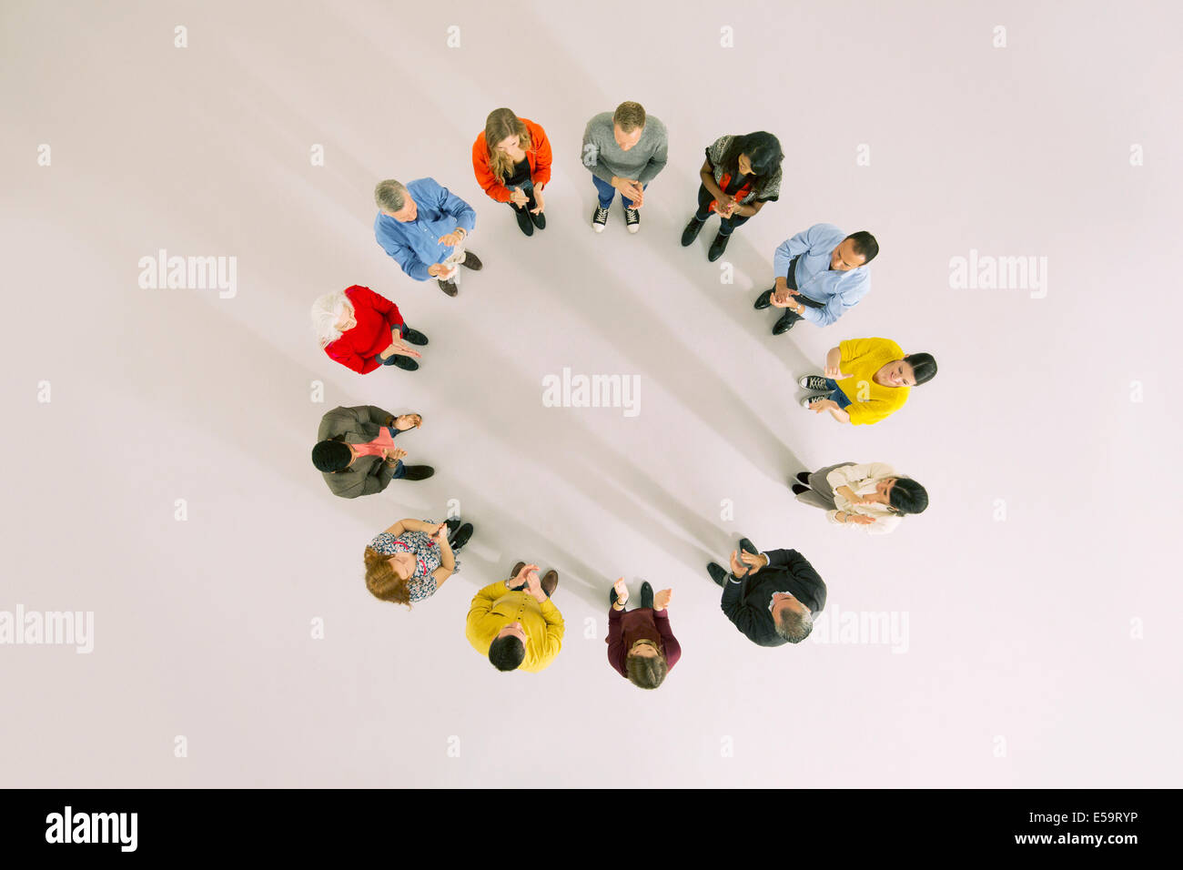 Business people in circle Photo Stock