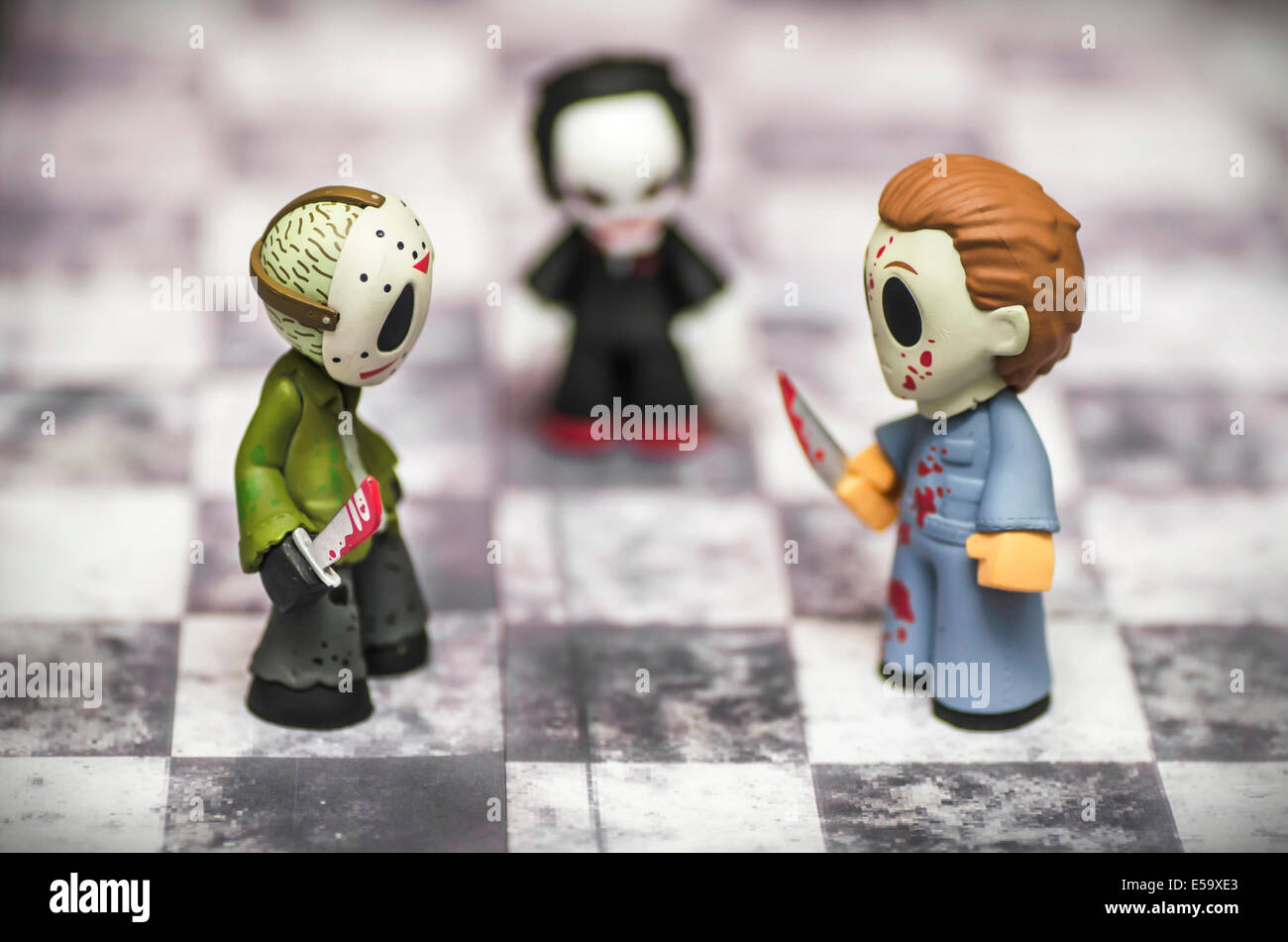 Les films d'horreur Jeu d'Funny Toys Banque D'Images