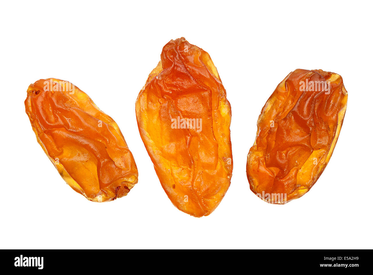 Raisin jaune libre isolated on white Banque D'Images