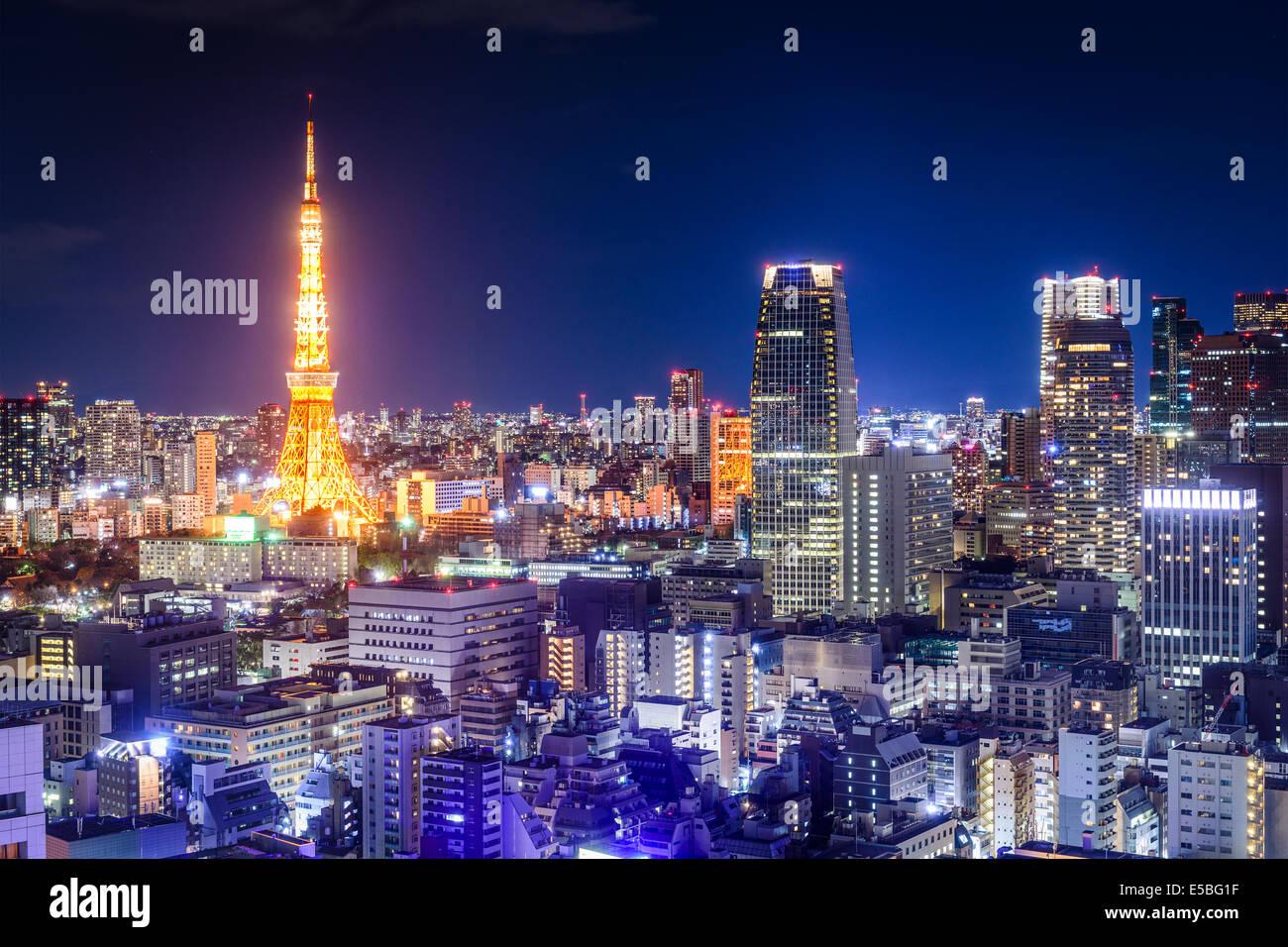 Tokyo, Japon skyline at night. Photo Stock