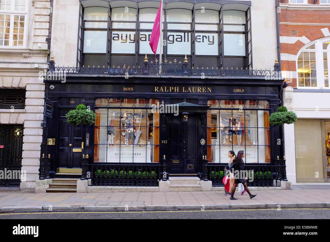 Ralph Lauren designer boutique de mode sur Bond Street, Londres Photo Stock 0dd0ddd410e
